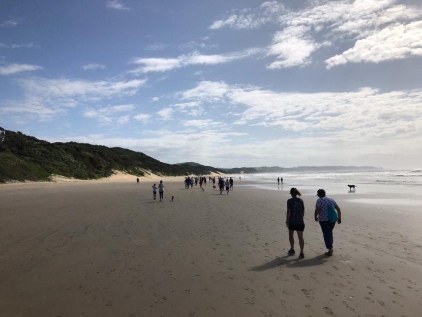African Angels fundraising beach walk 2020