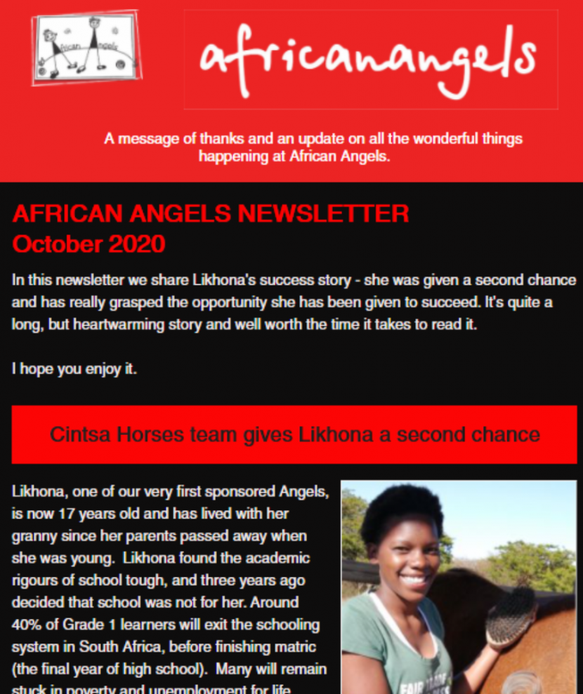 African Angels October Newsletter